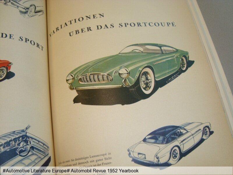 1952 automobil revue jahresausgabe yearbook de fr rar. Black Bedroom Furniture Sets. Home Design Ideas