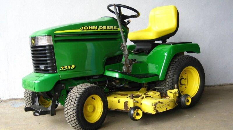john deere 355 d diesel aufsitzm her schlepper traktor rasentraktor mulcher gx ebay. Black Bedroom Furniture Sets. Home Design Ideas