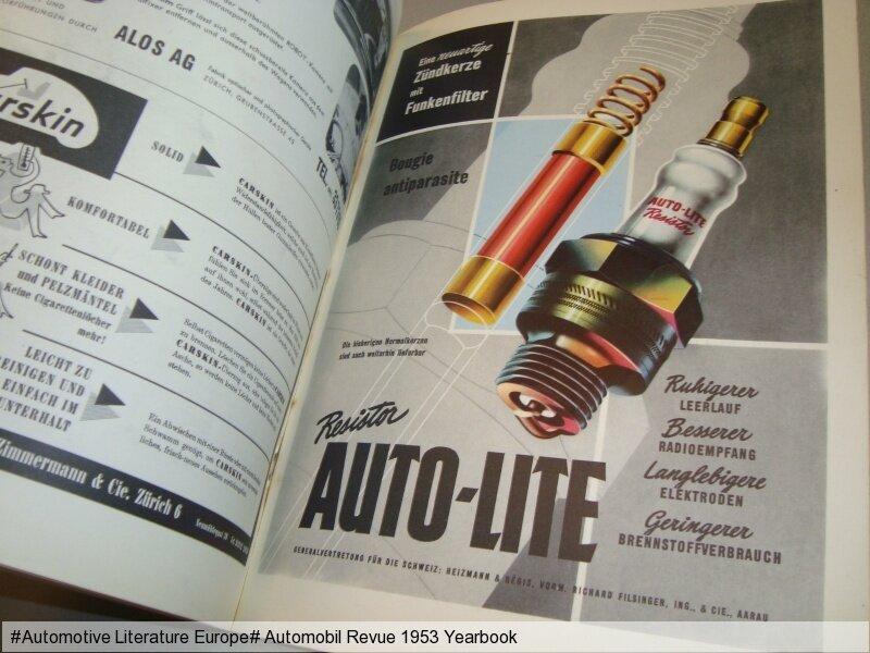 1953 automobil revue jahresausgabe yearbook de fr rar for Ebay motors shipping cost